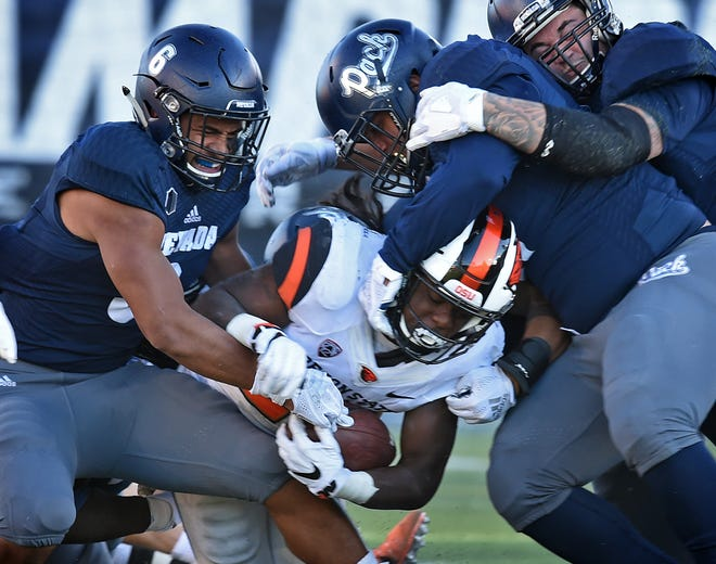 Nevada picked up a rare win over a Power 5 opponent Saturday night at Mackay Stadium, beating Oregon State, 37-35.