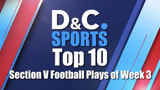Find out who made the Democrat and Chronicle's Section V Football Top 10 for week three of the 2018 regular season.