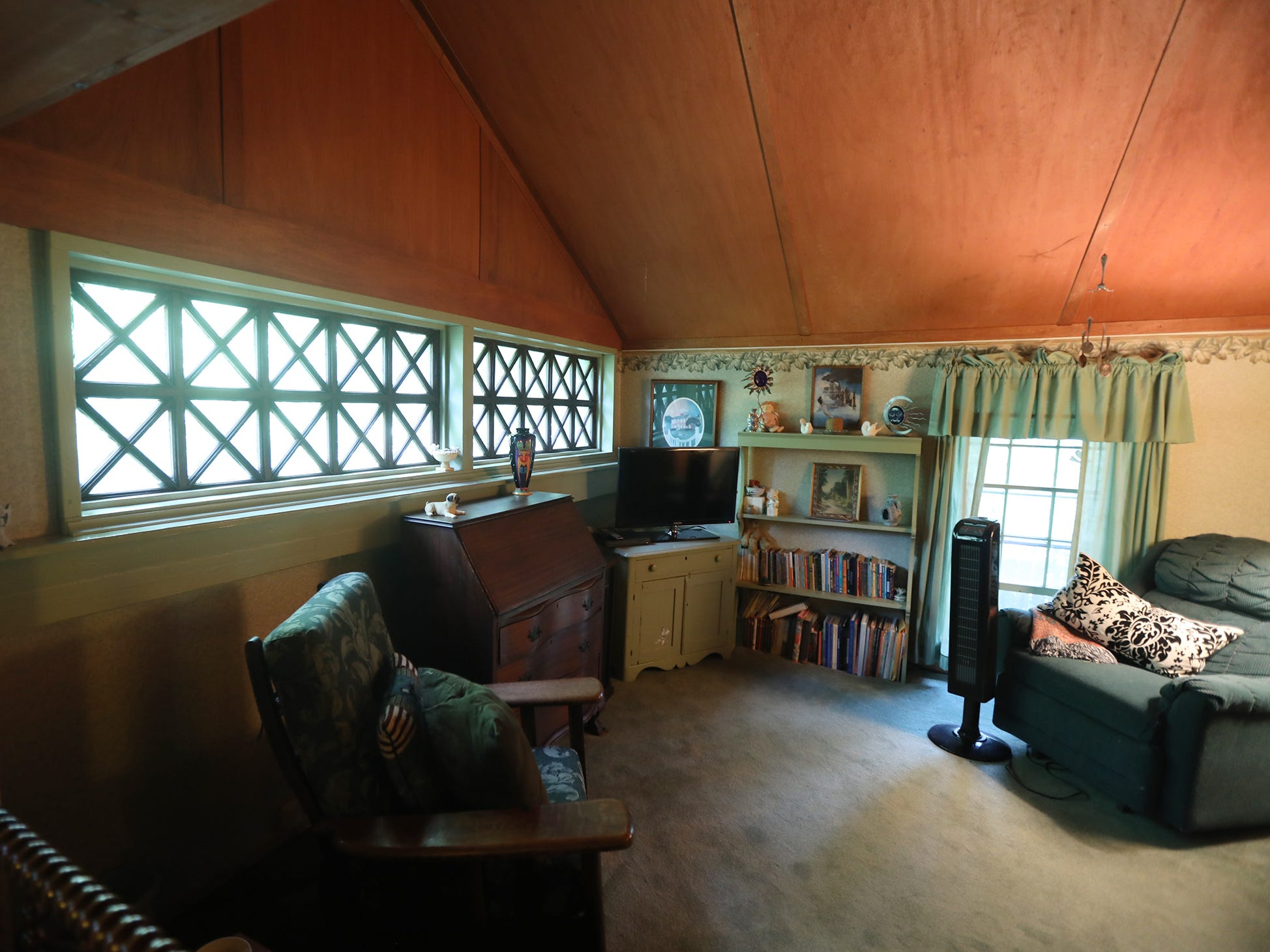 This room was once three separate servants bedrooms.  It was converted into a playroom.