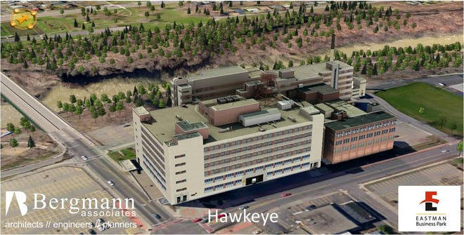 The Hawkeye complex along St. Paul Street is 759,000 square feet of industrial space.