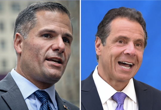 Marc Molinaro, left, and Gov. Andrew Cuomo