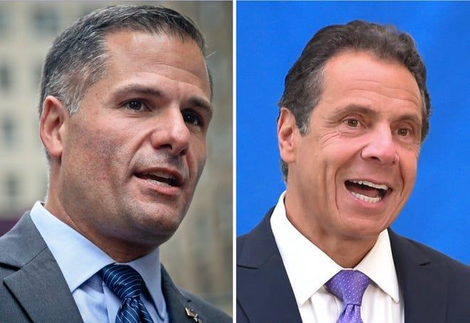 Marc Molinaro, left, and Gov. Andrew Cuomo