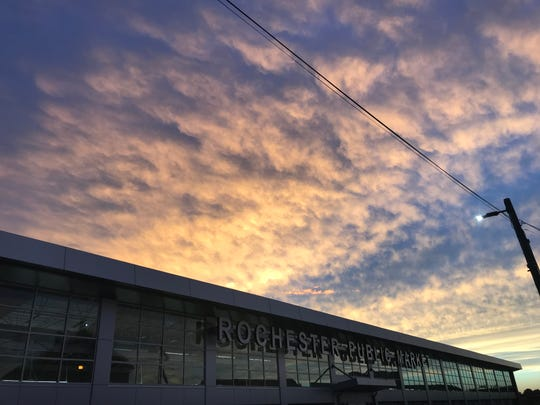Sunset over Rochester Public Market