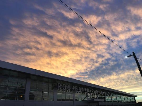 Sunset over Rochester Public Market