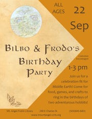 Bilbo and Frodo's Birthday Party at the Mt. Angel Public Library on Sept. 22.
