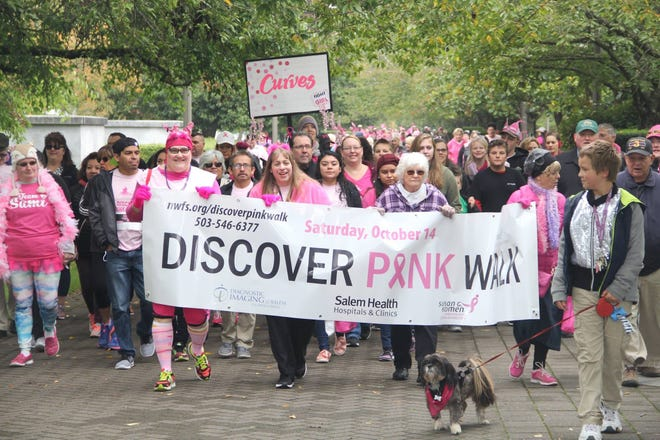 The 2018 Discover Pink Walk & 5K Fun Run will take place on Sept. 29.