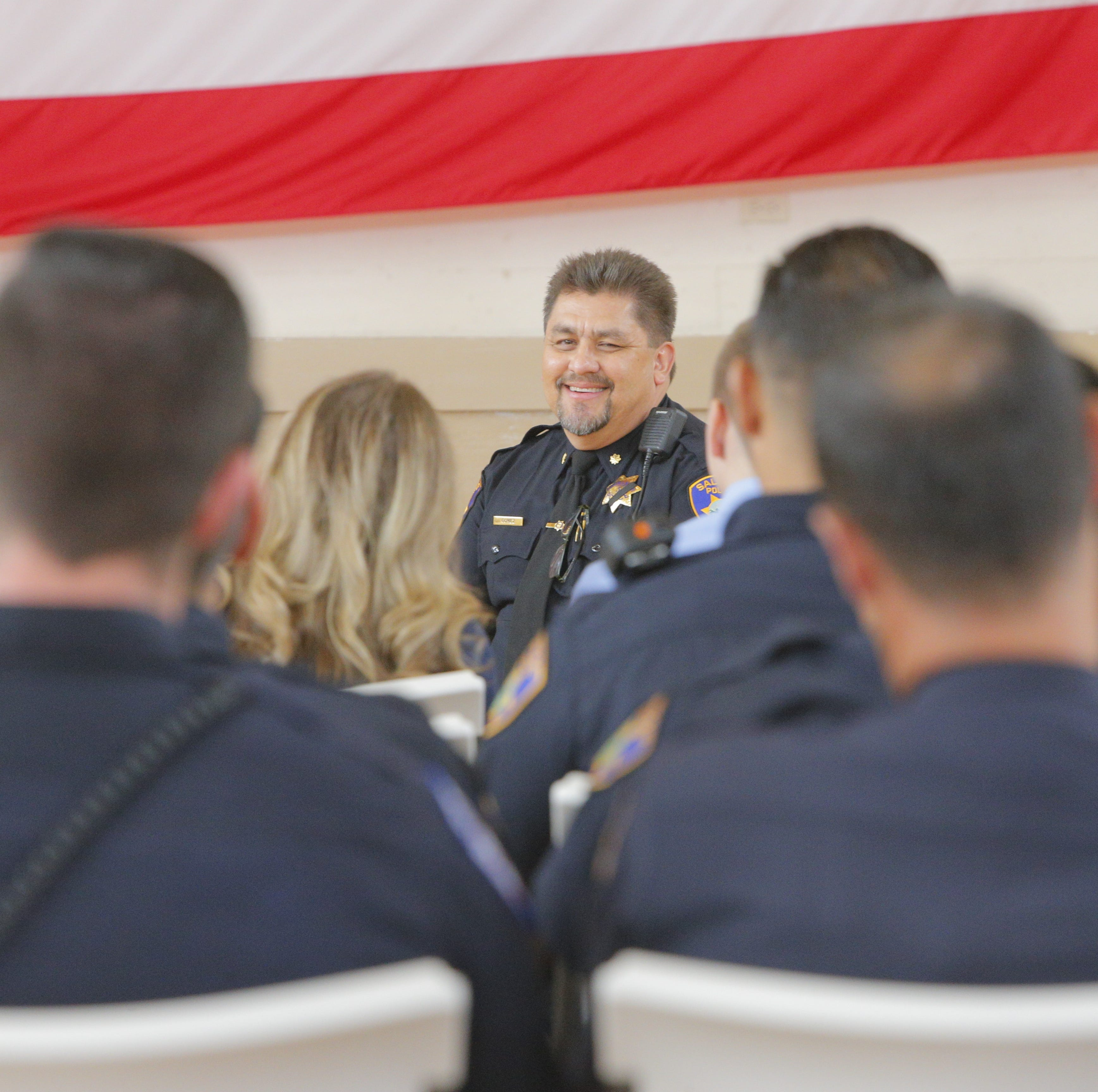 After 30 years, and a sword-wielding man, Salinas police honor retiring commander