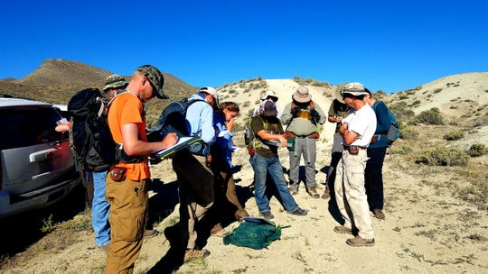 Angelo State University geology students spent their time in Field Camp measuring orientations with compasses, describing stratigraphic sections, constructing geologic maps, plotting data and writing reports.