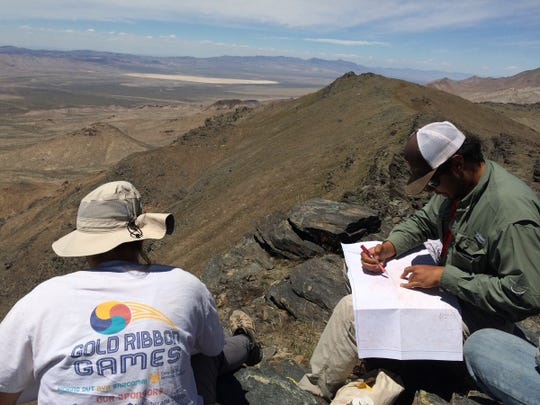 Slate Mountain in Nevada was one stop for the Angelo State University geology students participating in the Field Camp.
