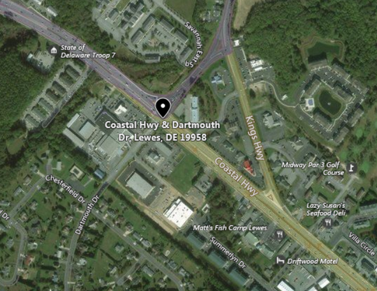 Delaware State Police is investigating a crash involving a trooper and a pedestrian on Coastal Highway in Lewes.