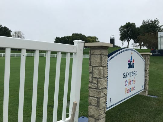 The Sanford Children's Playzone offers youth-oriented entertainment options during the Sanford International Presented by Cambria. It's located between the 9th and 18th holes.