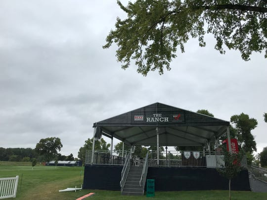 The Ranch, a beer garden set up near the 17th hole at the Sanford International Presented by Cambria. The Ranch is sponsored by the South Dakota Beef Industry Council.