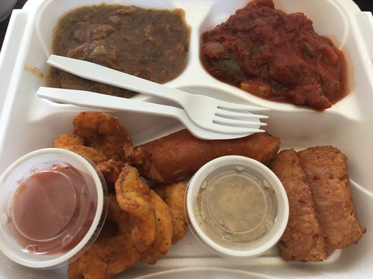 The fried crawfish and fried shrimp platters were both excellent. We loved the crawfish etouffee, too. The chicken and andouille gumbo comes on both platters and it has excellent depth.