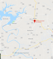 The strange hole with fire shooting out of it was discovered near the unincorporated area of Midway, Arkansas.