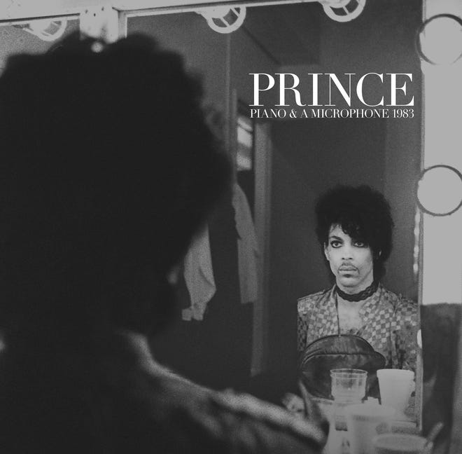 "This cover image released by Warner Bros. Records shows ""Piano & A Microphone 1983,"" a 35-year-old cassette Prince recorded of himself playing piano and singing at his home studio in Chanhassen, Minnesota. The album comes out on CD, vinyl and digital formats on Friday. (Warner Bros. Records via AP)"