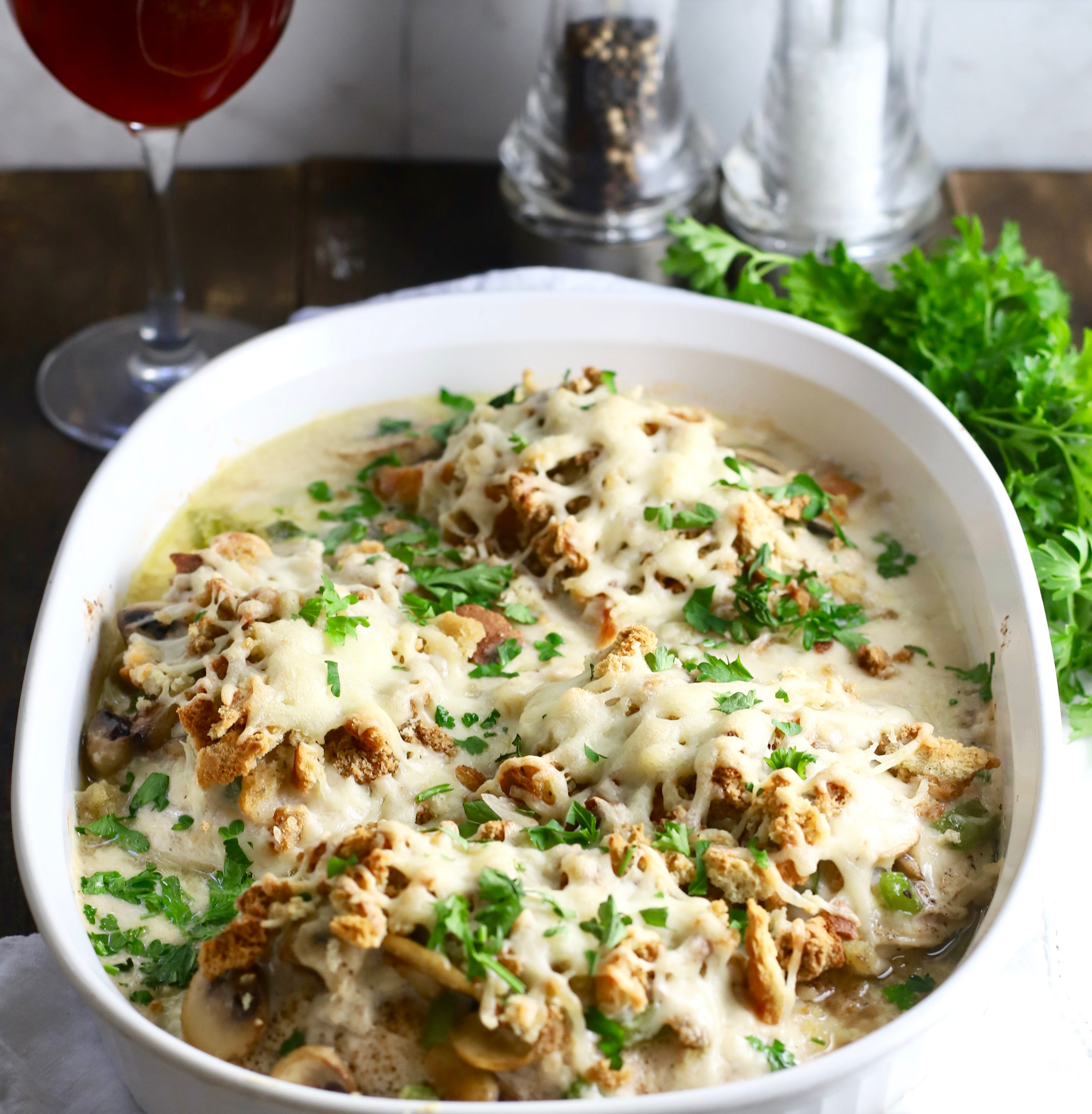 Update your casserole repertoire with Asiago Chicken