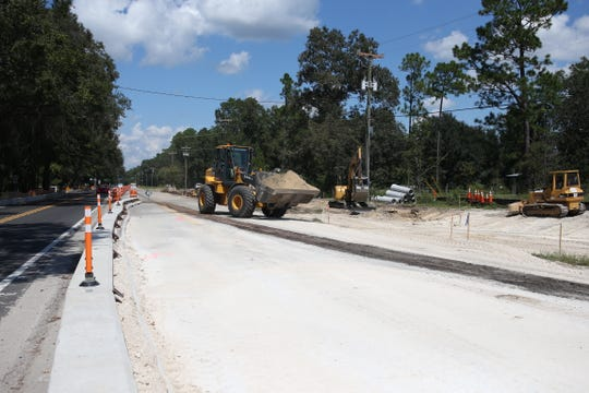 Highway widening construction at the intersection of Oak Ridge Road and State Road 61 on September 18, 2018.