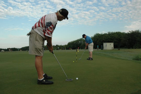 Aspiring golfers in this file photo take part in a PGA HOPE program for veterans at Fairwinds Golf Course in St. Lucie County. Judy Alvarez, director of instruction at Monarch Country Club in Palm City, helped establish six PGA HOPE (Help Our Patriots Everywhere) across South Florida.