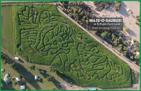 El Paso Corn Maze aerial view