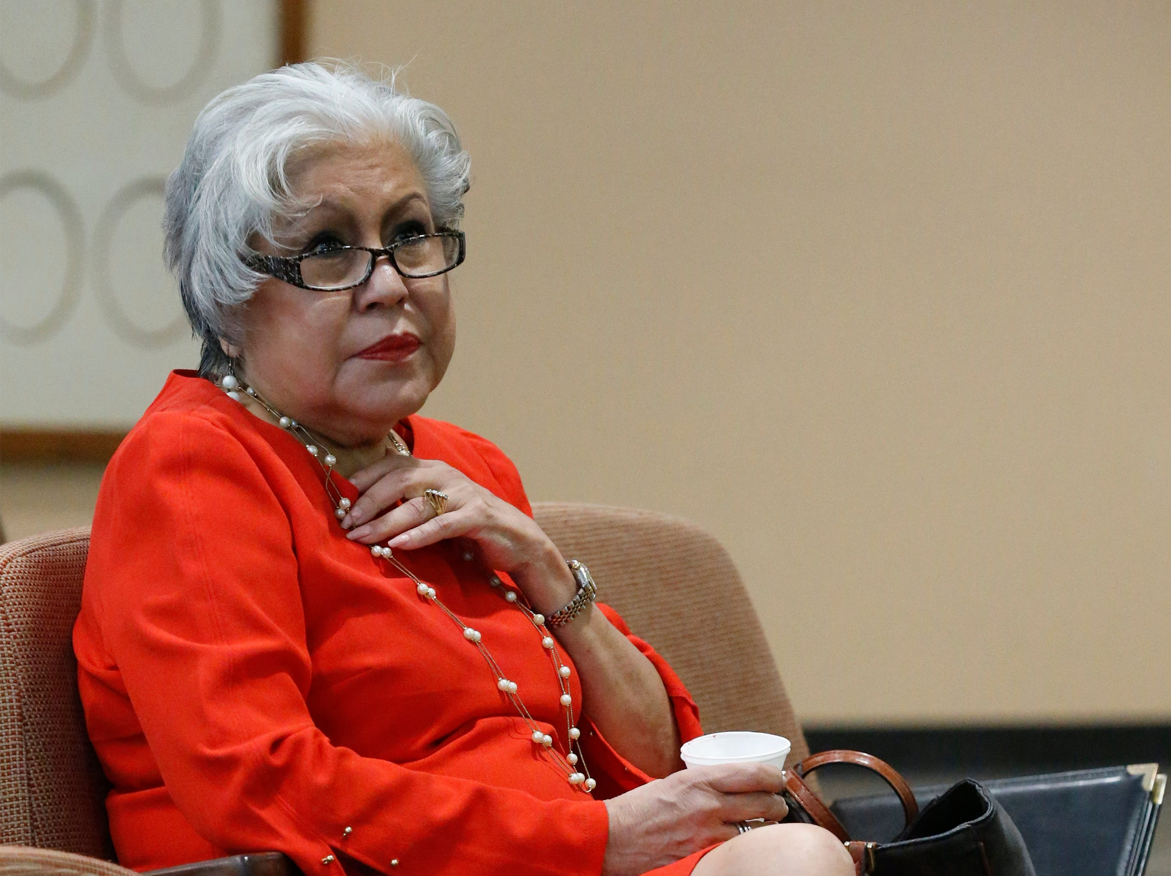 Liz Chavez is a member of the Mexican American Cultural Institute — the nonprofit group created to help fund the Mexican American Cultural Center when it was planned for the Abraham Chavez Theater. She sat and listened Tuesday as community members addressed the El Paso City Council about its plans for the center.