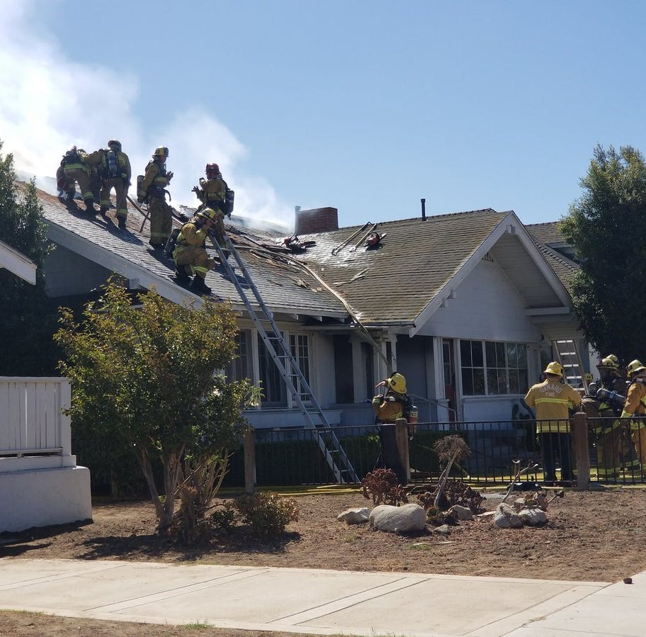 At least 3 injured in fire at structure in downtown Oxnard