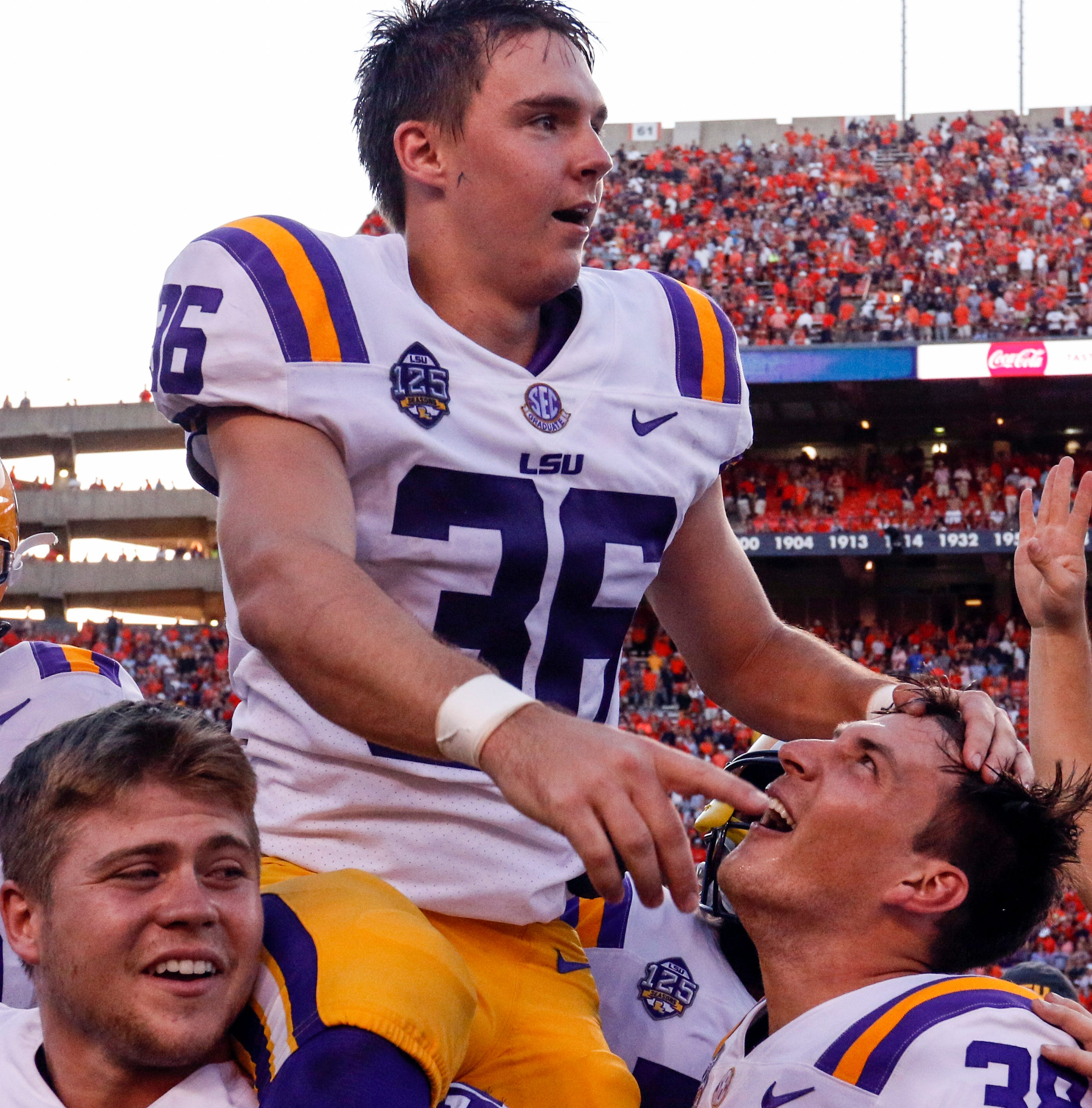 Is this Cole Tracy's team? New LSU kicker has taken over, and it helps he rarely misses