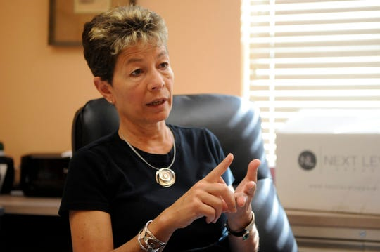 Bev Greco speaks about animal adoption at the South Jersey Regional Animal Shelter on Tuesday, September 18.