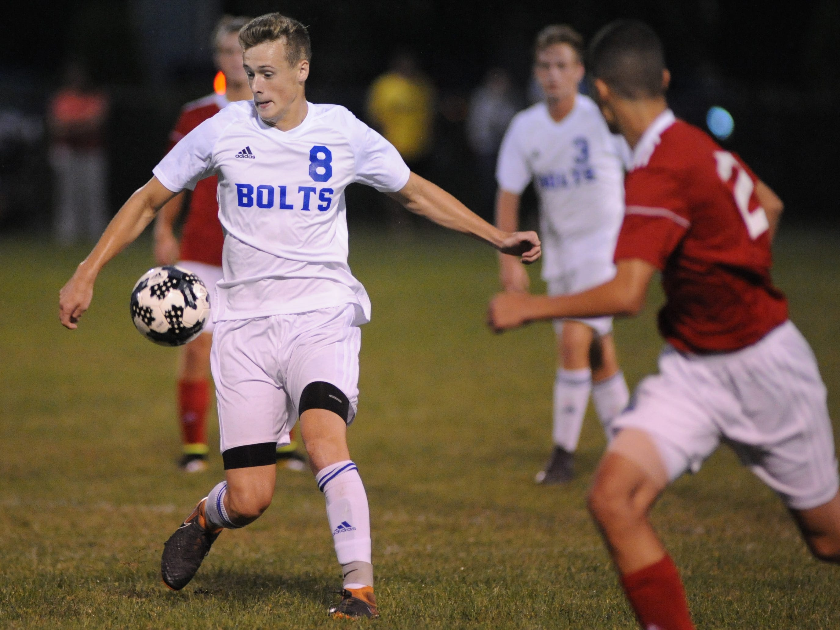 Millville's Matt Price moves the ball during a boys soccer game against Vineland at Romano Sports Complex in Vineland, Monday, Sept. 17, 2018.