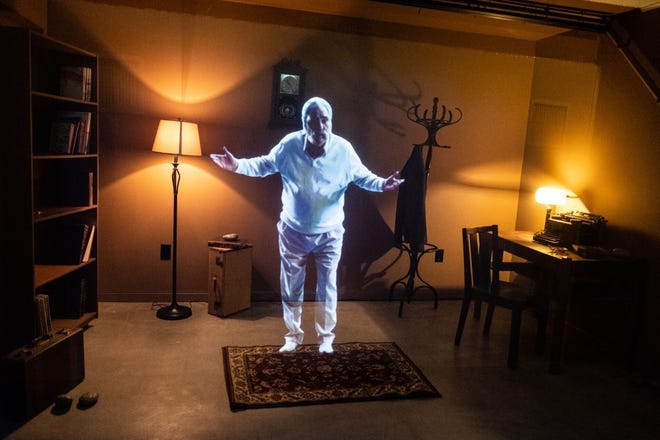 A hologram of William Saroyan discussing his writing is one of the features of The William Saroyan House Museum in Fresno.