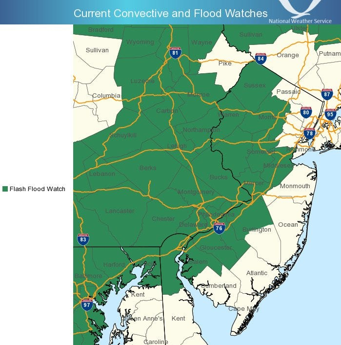 Last gasp of Florence may spark flash flooding in northern Delaware Tuesday