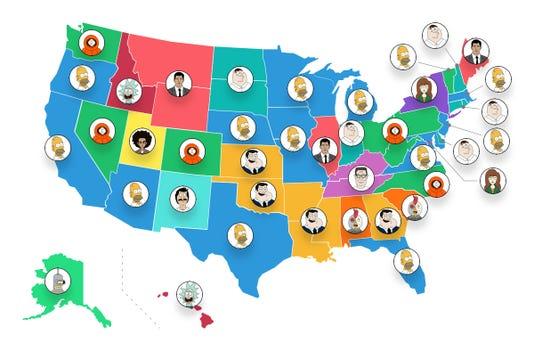 Animated Sitcoms Map