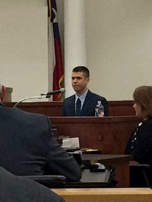 Dr. Brian Falls, a Harvard-trained, Austin-based psychiatrist, testifies in the murder trial of Kody Austin Lott Monday afternoon in Fort Worth.