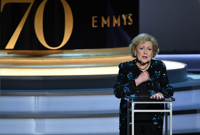 "96-year-old Betty White was a big hit at the Emmy Awards. She told the crowd, ""It is incredible you can stay in a career this long and still have people put up with you. I wish they did that at home."""