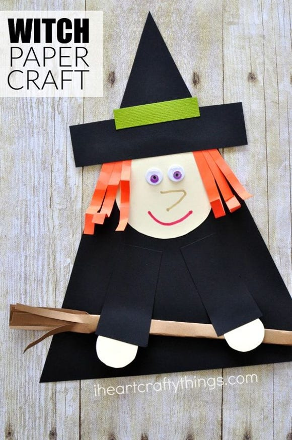 Witch paper craft for Halloween.