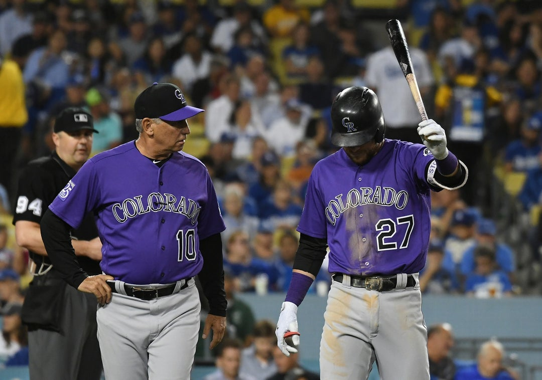 Rockies' Trevor Story cleared of structural damage in elbow, to miss only a few games