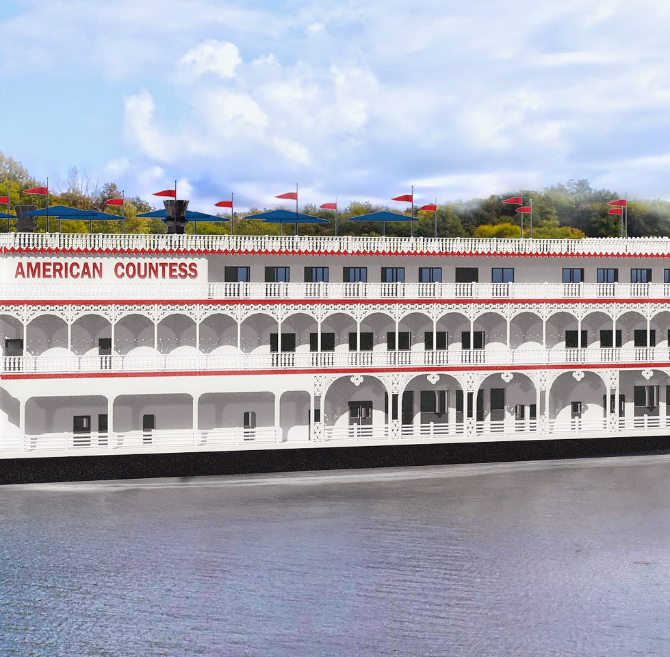 American Queen Steamboat Company has contracted for a new paddlewheeler to be called American Countess.