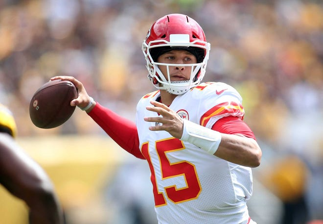 Patrick Mahomes has thrown 10 touchdowns through two weeks.