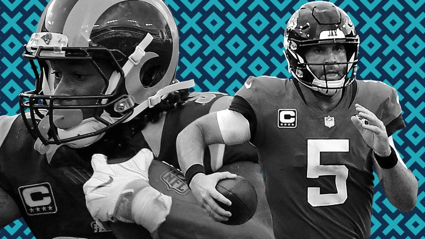 Blake Bortles (5) and the Jags edge Todd Gurley's Rams for the top spot in this week's power rankings.