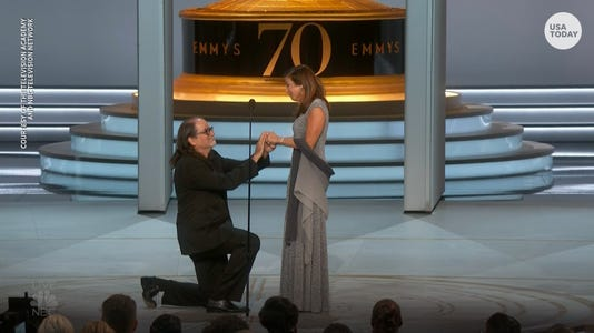 A live proposal at the Emmy's