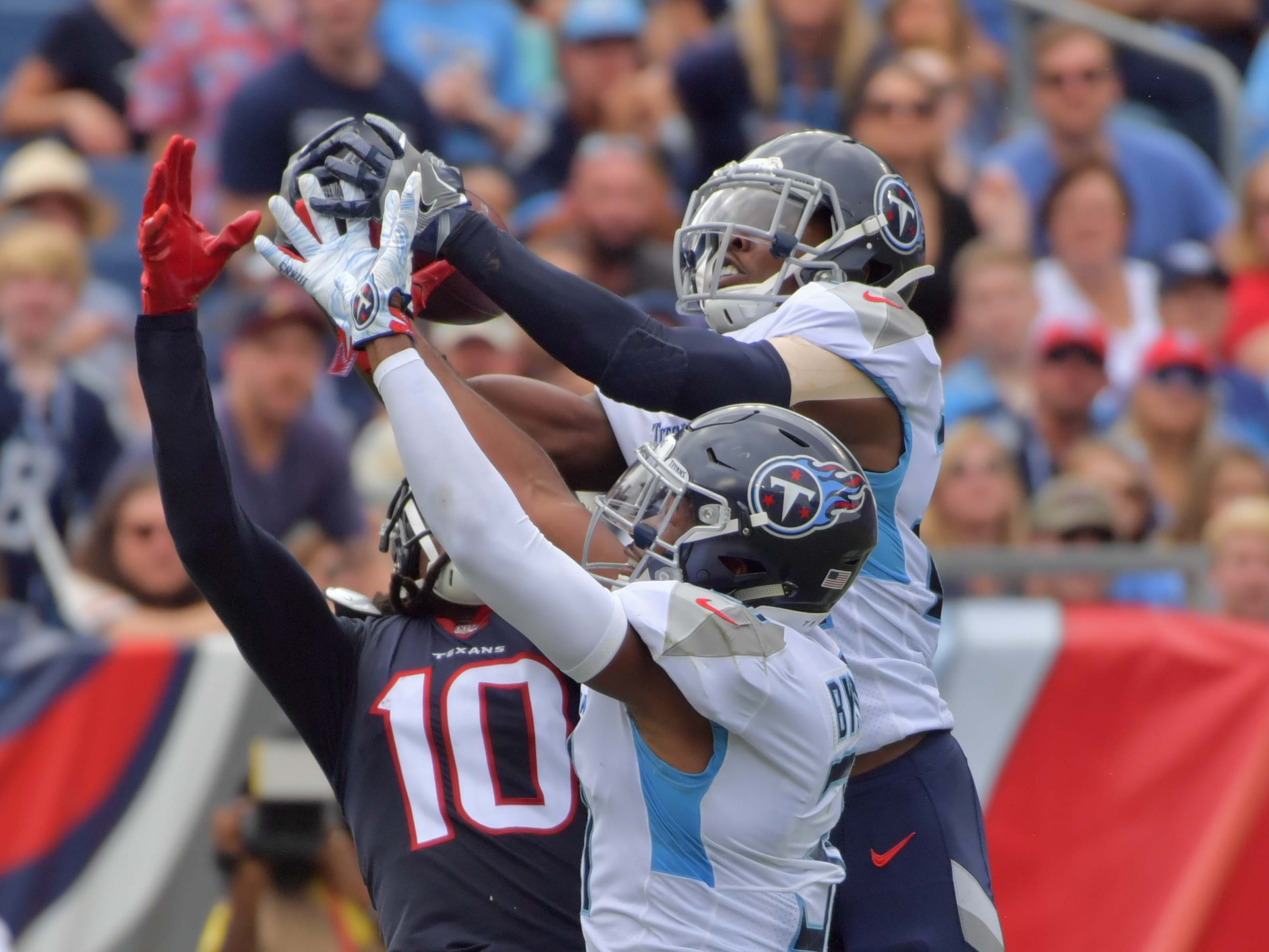 18. Titans (27): When pair of DBs (Kevin Byard, Dane Cruikshank) provide your biggest offensive play, there's a problem. But kudos on creativity front.