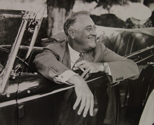 President Franklin Roosevelt at his home in Hyde Park, New York, in 1937.
