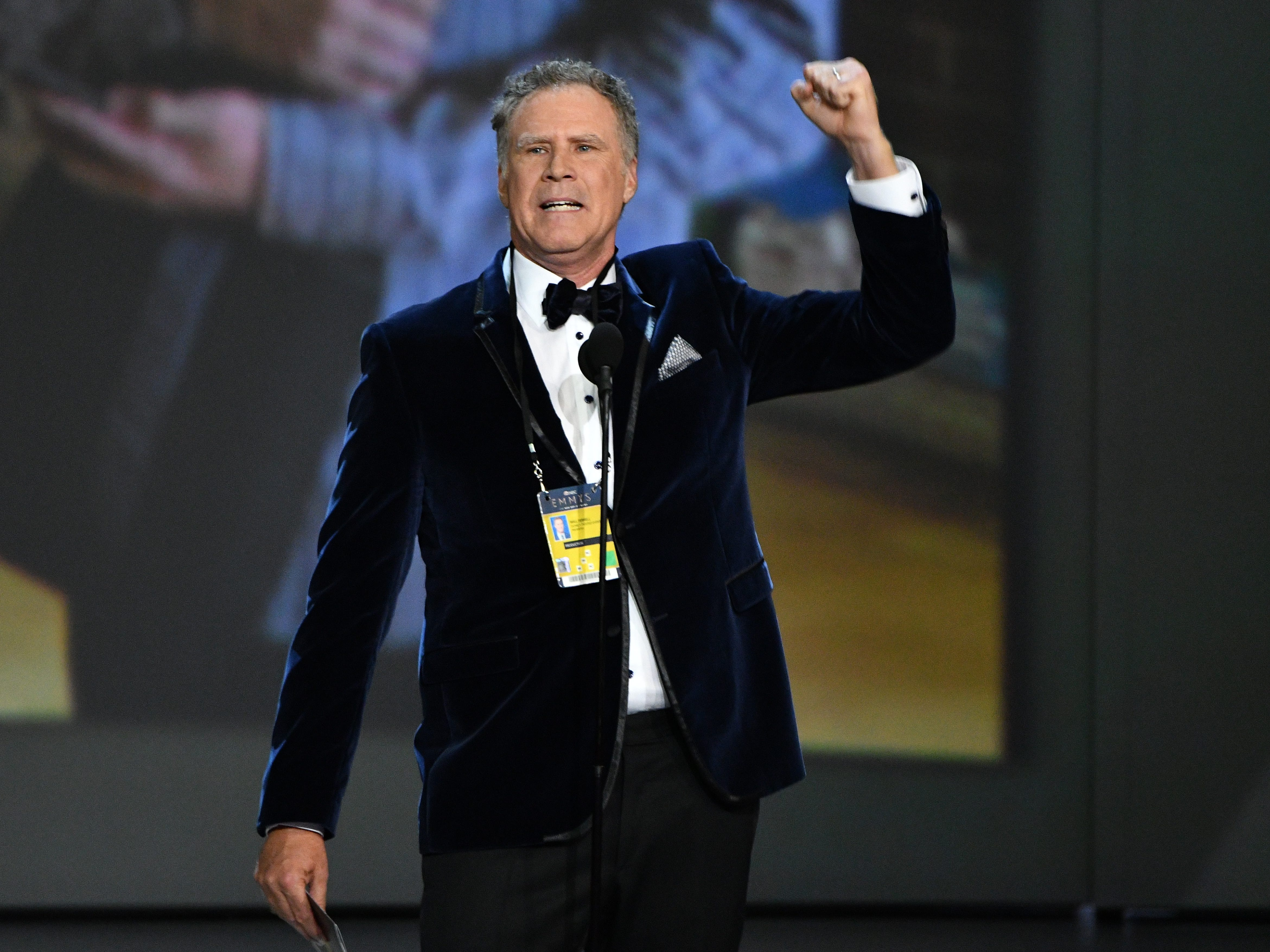 Will Ferrell presents the award for outstanding comedy series.