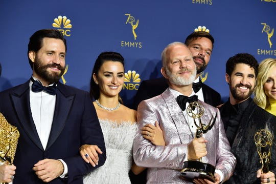 """As a gay man, I was told when started out in the business that I could not even write in 1998 a gay character,"" Ryan Murphy, the director of '""The Assassination of Gianni Versace: American Crime Story"" recalled backstage. ""The idea that now, 20 years later, I get to tell the story and proselytize for my community is important to me."""