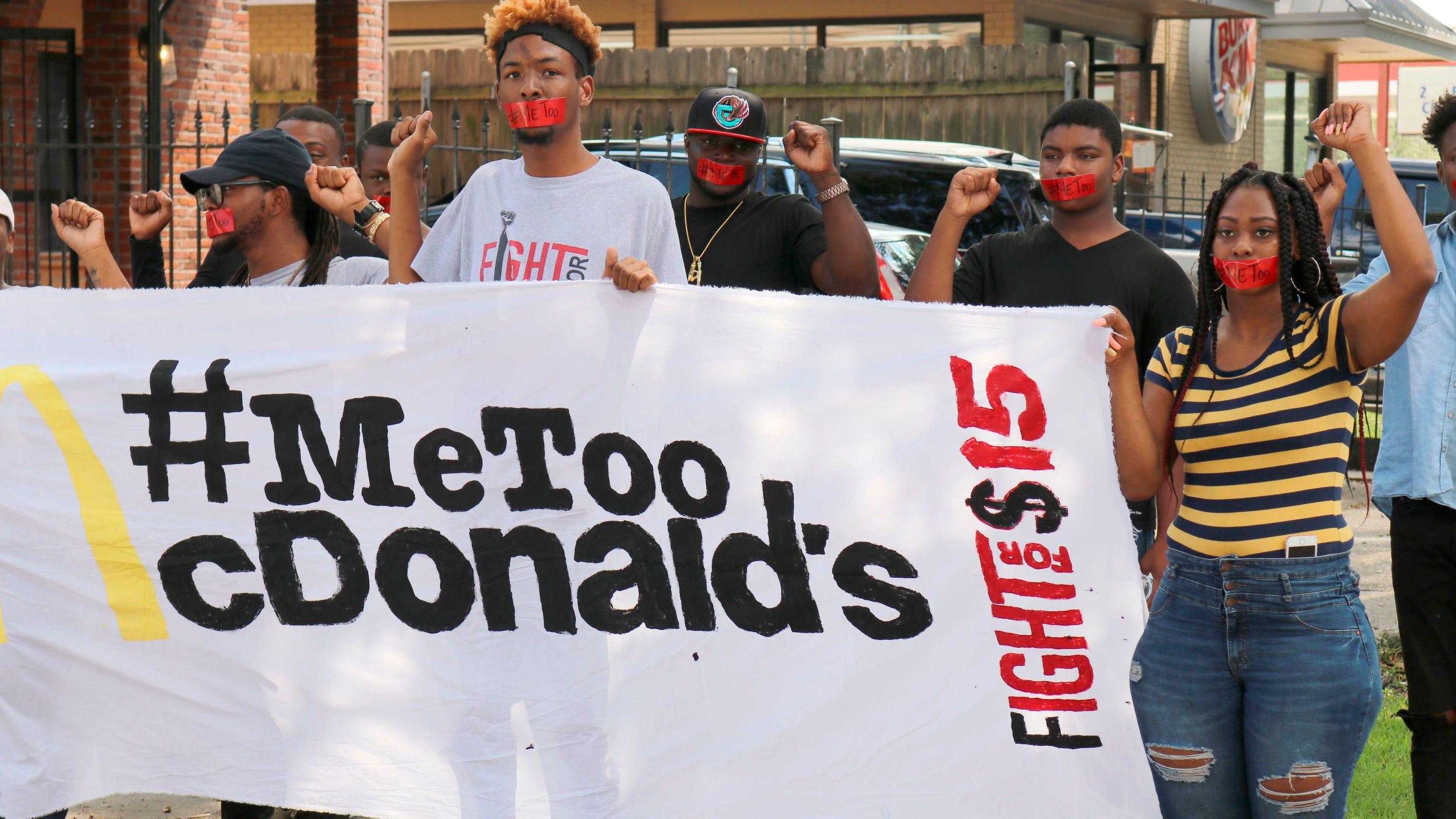 McDonald's employees stage #MeToo strike, alleging sexual ...