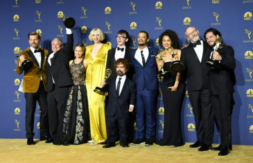 "The ""Game of Thrones"" gang reunited at the Emmys after wrapping the series earlier this summer."