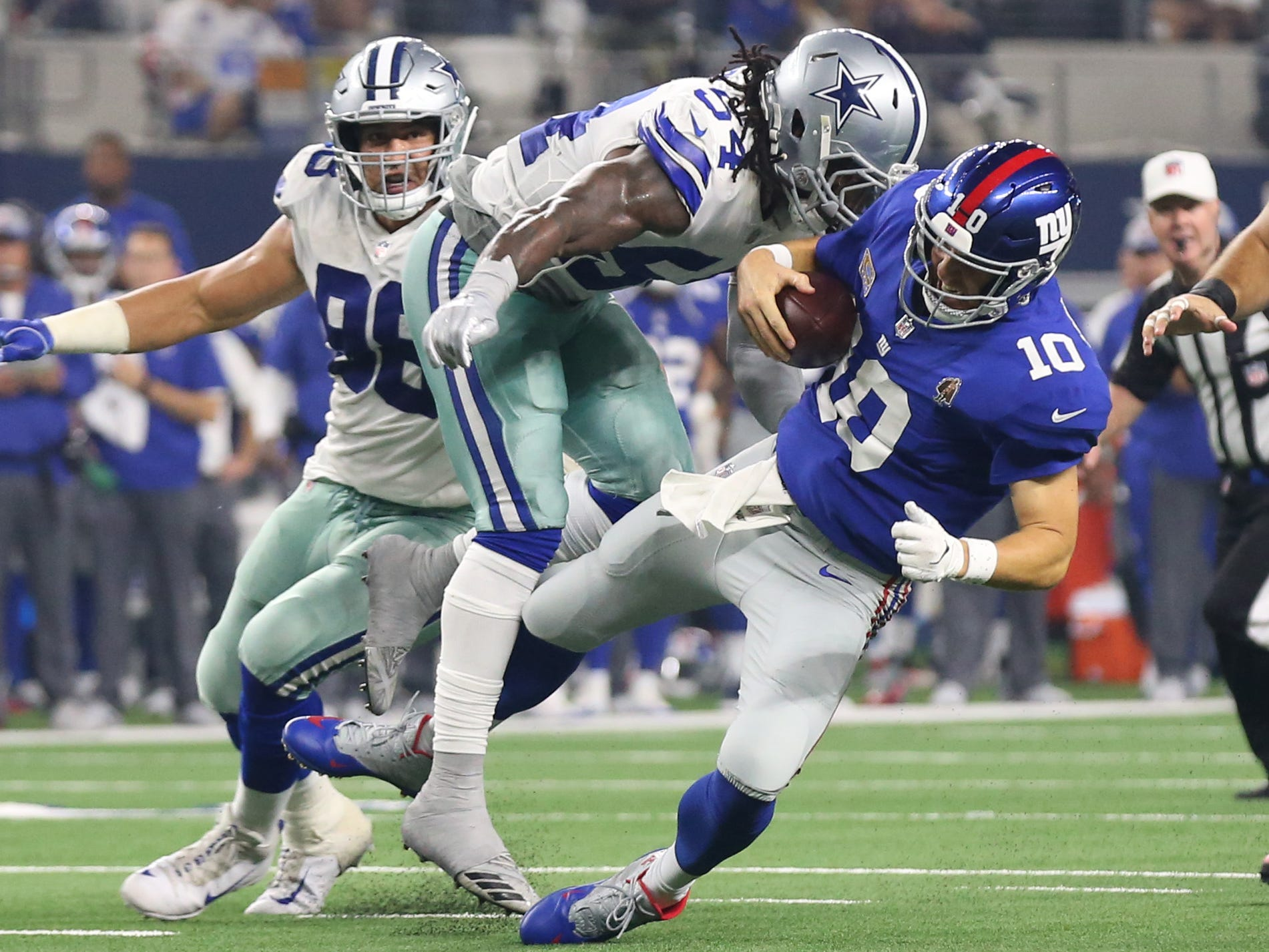 26. Cowboys (25): Defense is out chute with league-high nine sacks. That will need to continue given lackluster start by Dak Prescott and pass game.