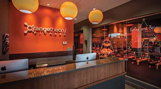 An Orangetheory Fitness studio.