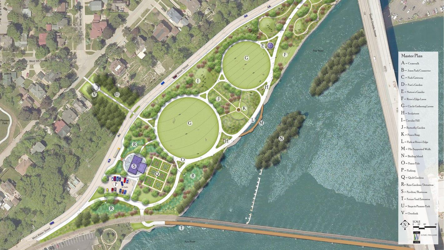www gratulationskort com Riverfront renewal: Appleton to build Ellen Kort Peace Park in phases www gratulationskort com