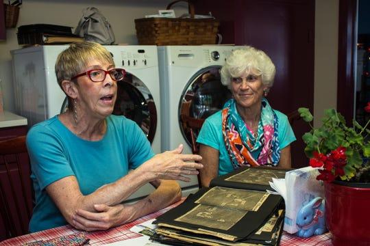 Susan Zuber (left) and Karen Patrick Mackolin. Karen donated a kidney so Susan could get a transplant.