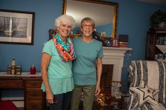 Susan Zuber (right) and Karen Patrick Mackolin. Karen donated a kidney so Susan could get a transplant.